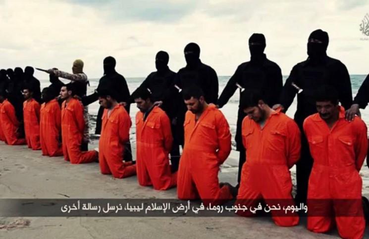 Боевики опубликовали видеозапись с казнью 21 египетского христианина