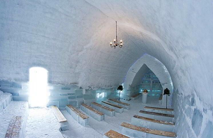 В Румынии открылась ледяная церковь