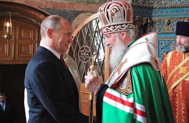 Путин поздравил главу РПЦ с шестой годовщиной интронизации