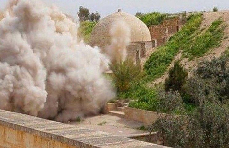 Боевики сравняли с землей храм