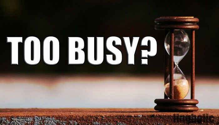 Когда ты слишком занят для общения с Богом