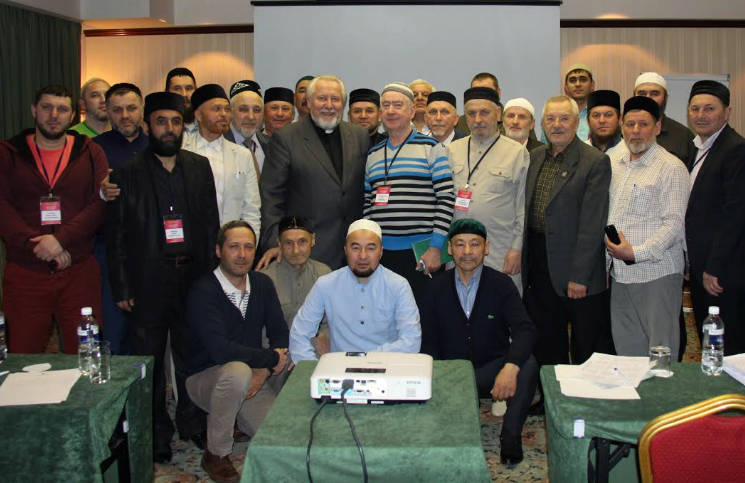 Первое выступление священиков и раввинов перед имамами в Москве