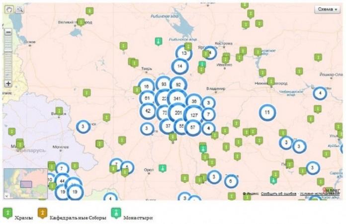 В России появилась интернет-карта православных святынь
