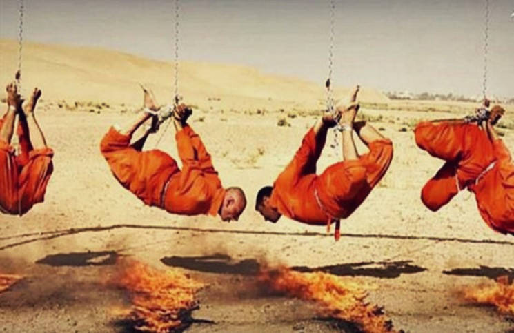 Боевики ИГ заживо сожгли заложников на качелях смерти