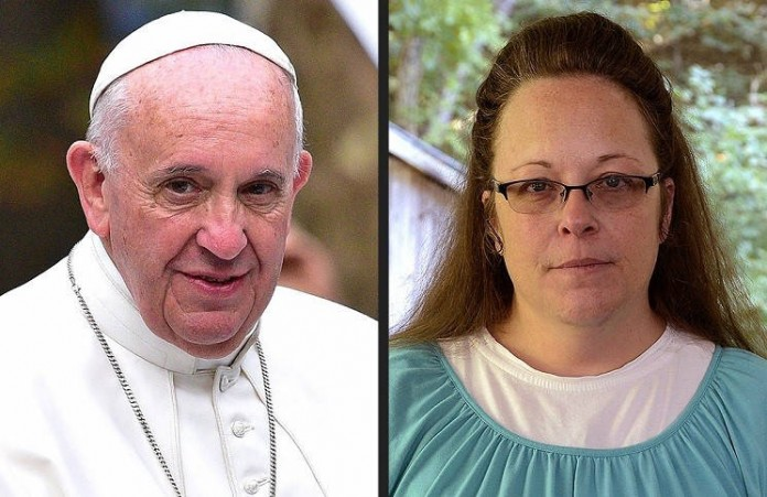 Спасибо за твое мужество: Папа Римский встретился с Ким Девис