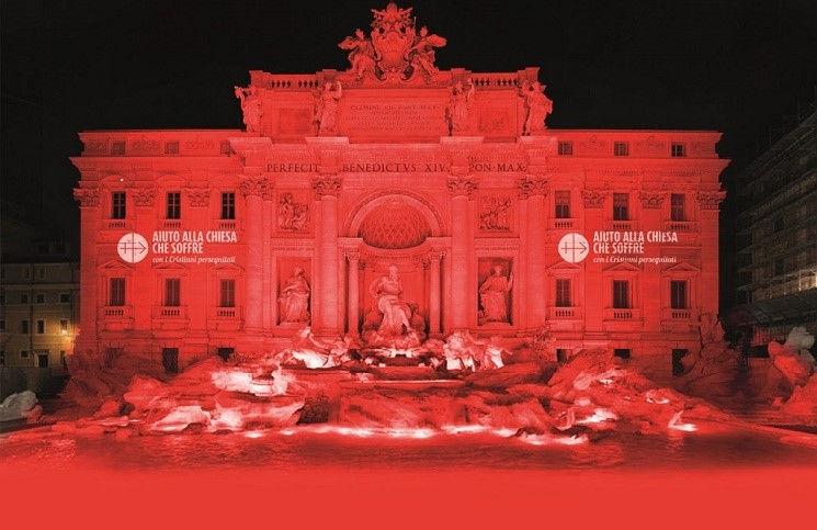 Фонтан Треви станет красным в честь мучеников