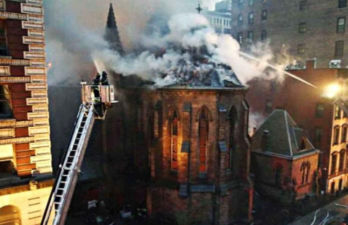 В день праздника Пасхи сгорел сербский православный храм в Нью-Йорке