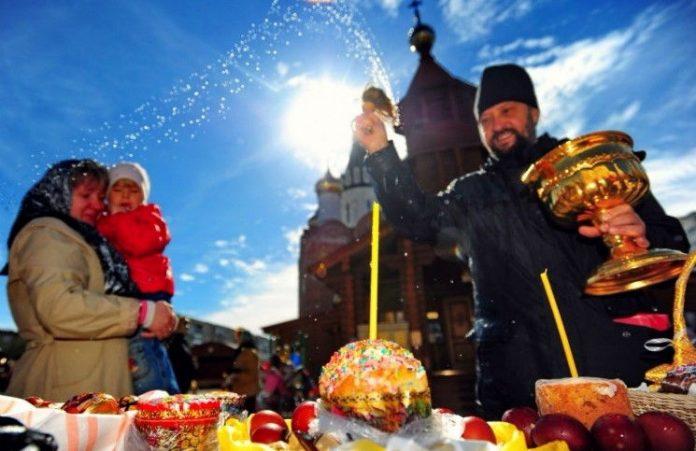 Православные верующие встретили Пасху