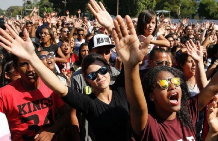 5 000 христиан на улицах Мадрида молились за страну