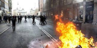 В Копенгагене прошли столкновения сторонников и противников празднования Рождества