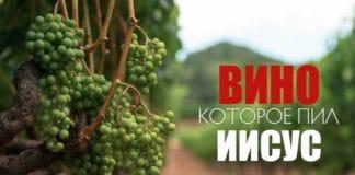 Вино, которое пил Иисус